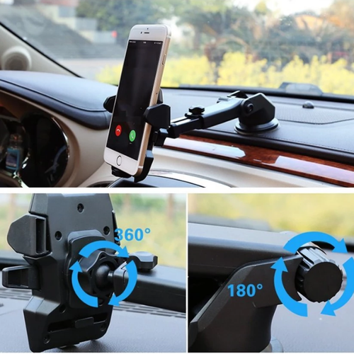 Worldmart giá đỡ kẹp điện thoại trên xe hơi, 360 độ cao cấp