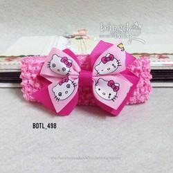 Băng đô nơ mèo kitty xinh xắn cho bé yêu