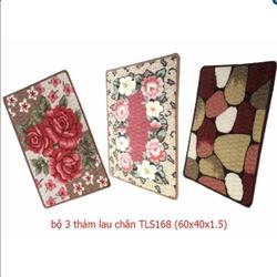 Bộ 3 thảm hoa lau chân  60x40