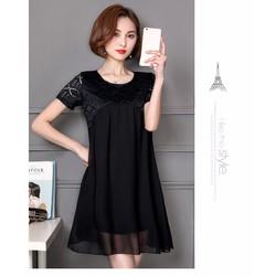 Đầm nữ thời trang kiểu dáng hiện đại dành cho người mập-D11477745