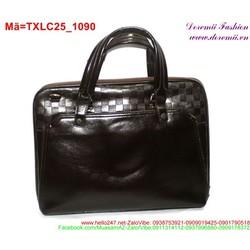 Túi xách laptop phối họa tiết sọc ca rô sành điệu TXLC25
