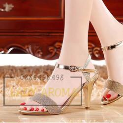 Giày cao gót quai ngang kim tuyến Lady-CG11155