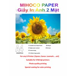 Giấy in ảnh MIHOCO PAPER khổ A4, định lượng 260gsm