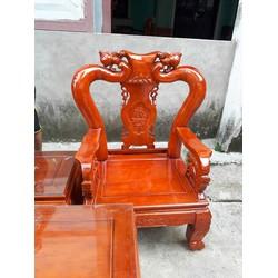 Bộ bàn ghế gỗ xoan ta tay 10 phun PU