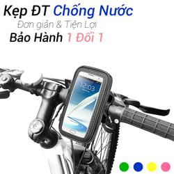 Kẹp điện thoại trên xe máy - xe đạp chống nước