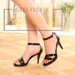 Giày cao gót Siletto quai mảnh vàng ánh kim Lady-CG490