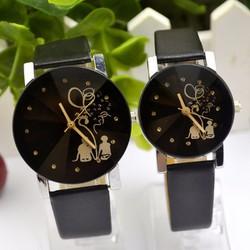 Đồng hồ đôi dây da thời trang Kasiqi SP944