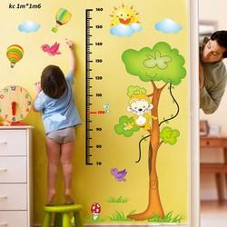 decal dán tường đo chiều cao