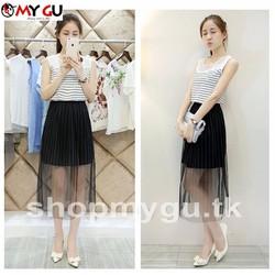 Set bộ thời trang áo + chân váy style Hàn Quốc SET03
