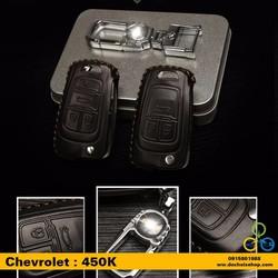 Bao da bọc chìa khóa Chevrolet 3 nút bấm