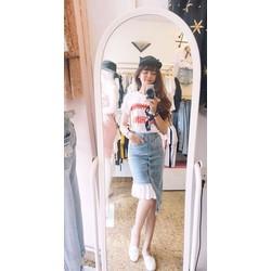 chân váy bò siêu xinh