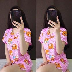 Đồ bộ short nữ hình gấu hello siêu dễ thương