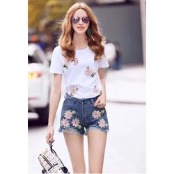 hàng nhập-set áo thun quần short jean