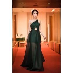 D605 Đầm Dạ Hội Lệch Vai Đẹp Như Ngọc Trinh
