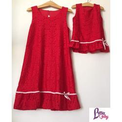 Đầm đôi ren đỏ đi tiệc sang - 0931856799
