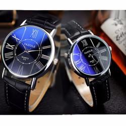 Đồng hồ đôi dây da thời trang Yazole SP950