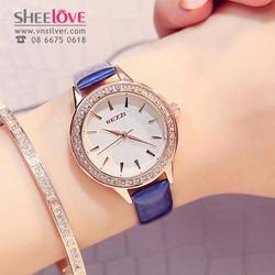 Đồng hồ kezzi chính hãng dây da cao cấp thời trang hàn quốc WH-K851