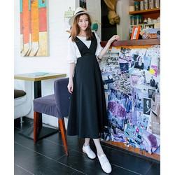 Chân váy maxi yếm thun BA605