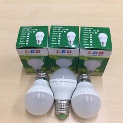 Bộ 3 bóng đèn LED DC 12V 3W vỏ nhựa