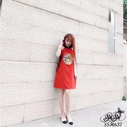 SuSu Shop - Đầm suông thêu họa tiết rồng - SSH637