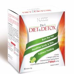 Nucos Diet Detox giá rẻ nhất 325k giảm cân và thải độc trong 7 ngày