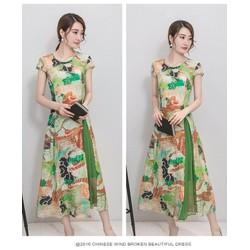 Đầm dài cách điệu kèm váy rời-NU HOUSE-SP161