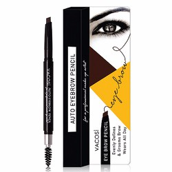 Chì kẻ chân mày Vacosi Auto Eyebrow Pencil, 03 Black Brown