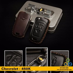 Bao da chìa khóa ô tô Chevrolet 3 nút