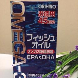 Viên dầu cá Om ega 3 Orihiro Nhật Bản hộp 180 viên