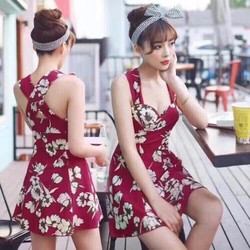 Đầm hoa cup đan lưng cao cấp