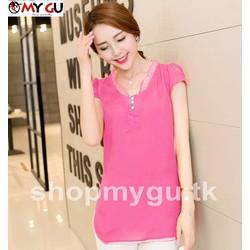 Áo kiểu thời trang dịu dàng A20 - Màu hồng