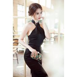Đầm ôm body cổ yếm D895