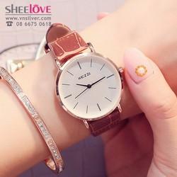Đồng hồ nữ kezzi chính hãng dây da thời trang trẻ trung WH-K738