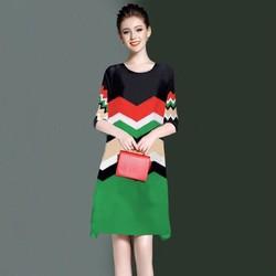 Đầm suông cao cấp in 3D