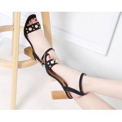 Sandal cao gót đính đá