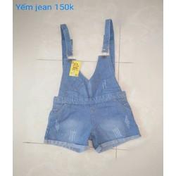 Quần short yếm jeans