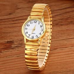 Đồng hồ thời trang Nữ Dây co dãm màu vàng