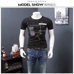 Áo thun nam đẹp họa tiết cá tính phong cách Hàn Quốc
