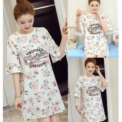 Đầm suông họa tiết cao cấp - hàng nhập Quảng Châu