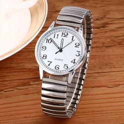 Đồng hồ thời trang Nữ Dây Co dãn mặt trắng