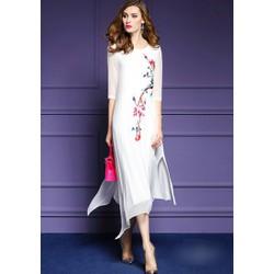 Đầm Suông Form Rộng Họa Tiết CAO CẤP A17175