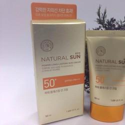 KEM CHỐNG NẮNG THEFACESHOP NATURAL SUN ECO POWER LONG-LASTING  SPF50