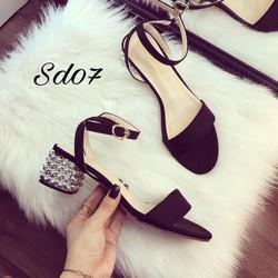 Giày sandal cao gót nữ đính đá hàng nhập  - LN1188