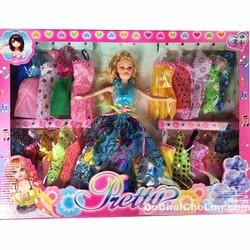 Hộp đồ chơi búp bê 20 bộ váy đầm dạ hội