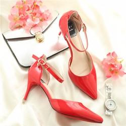 Giày cao gót nữ quai cài thời trang -LN1190