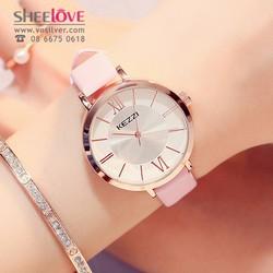 Đồng hồ nữ kezzi chính hãng dây da mặt số la mã thời trang WH-K1383
