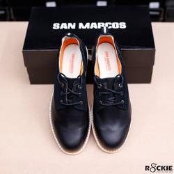 Giày Da Thời Trang Cổ Thấp San Marcos Đen