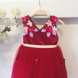 Đầm Công Chúa Giáng Sinh Kết Hoa 3983R