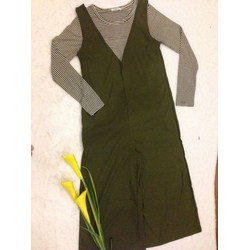 Bộ quần yếm dài kết hợp áo tay dài vải thun mát FS7