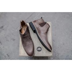 Giày cao cổ da bò bụi bặm